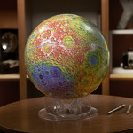 Sky Publishing Glob Mond topographisch