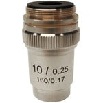 Optika 10X/0.25, achro microscope objective, M-132