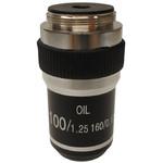 Optika objetivo 100x/1,25, (aceite), alto contraste, M-143