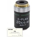 Objectif Optika 20x/0.40, infinity, N-plan, POL, (B-383POL), M-146P
