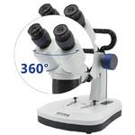 Optika Microscopio estereo 20x, 40x, brazo fijo, cabeza giratoria, SFX-51
