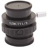 """Optika Adaptateur monture C ST-418, pour capteur 1/3 """", 0,35x, avec mise au point (LAB30)"""