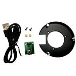iOptron Adapter für Polemaster an CEM60-Montierung