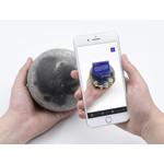 La aplicación de RA le muestra todo lo que puede descubrir sobre la superficie de la Luna.