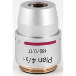 Motic Objective PL, plan, achro, 4x/0.10, w.d. 17 mm (RedLine200)