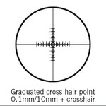 Motic Strichplatte, doppelt 100/10mm, crosshair, Ø 25mm (SMZ-161)