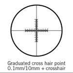 Motic reticolo, doppio 100/10 mm, mirino, Ø 25 mm (SMZ-161)