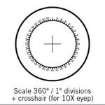 Motic Réticule rapporteur 360°/1°, Ø 25mm, seulement pour 10X (SMZ-161)