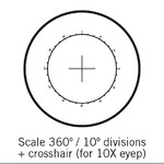 Motic Reticle 360°/10°, only for 10X, Ø25mm microscope eyepiece (SMZ-161)