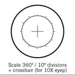 Motic Réticule rapporteur 360°/10°, seulement pour 10x, Ø 25 mm (SMZ-161)
