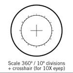 Motic reticolo 360°/10°, solo per 10X, Ø 25 mm (SMZ-161)