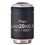 Motic objetivo LWD PL, CCIS, plan., acrom., 20x/0,3, w.d. 4,7 mm (AE2000)