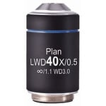 Motic objetivo LWD PL, CCIS, plan, achro, 40x/0.5, w.d.3.0mm (AE2000)