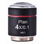 Motic PL, CCIS, plan, achromat 4X /0.10 w.d. 12.6mm microscope objective (AE2000)