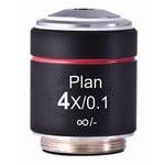 Motic objetivo PL, CCIS, plan, achromat 4X /0.10 w.d. 12.6mm microscope objective (AE2000)