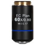 Motic objetivo EC PL, CCIS, plan, achro, 60x/0.80, S, w.d. 0.35mm (BA-210)