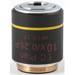 Motic Objective EC PL P, CCIS, plan achro, (spannungsfrei), 10x/0.25, w.d.17.4mm (BA-310 POL)