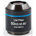 Objectif Motic LM BD PL, CCIS, LM, plan, achro, BD, 50x/0.55, w.d.7.2mm (AE2000 MET)
