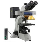 Optika Microscopio Mikroskop B-510FL-UK, trino, FL-HBO, B&G Filter, W-PLAN, IOS, 40x-400x, UK