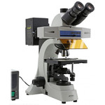 Optika Microscopio Mikroskop B-510FL-US, trino, FL-HBO, B&G Filter, W-PLAN, IOS, 40x-400x, US