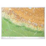 Georelief 3D Karte Nepal groß