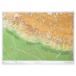 Georelief Harta magnetica 3D Karte Nepal groß