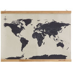 suck UK Mapa świata Cross Stitch Map