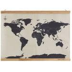 suck UK Wereldkaart om te borduren, kruissteken