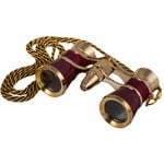 Levenhuk Opera glasses Broadway 3x25 red (with LED light and chain)