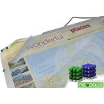 """Bacher Verlag Mappa del Mondo World map for your journeys """"Places of my life"""" small including NEOBALLS"""