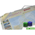 "Mappemonde Bacher Verlag World map for your journeys ""Places of my life"" extra-large including NEOBALLS"