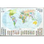 Idena Schreibtischunterlage Weltkarte mit Einstecktaschen