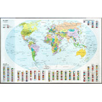 Idena Schreibunterlage Schreibtischunterlage Weltkarte mit Einstecktaschen