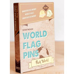 Miss Wood World Flag Pins Markierungsfahnen Pack World 100 Stück