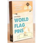 Miss Wood World Flag Pins Markierungsfahnen Afrika 25 Stück