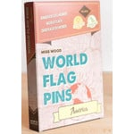 Miss Wood World Flag Pins America 25 pieces