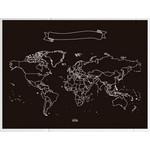 Miss Wood Mapa mundial Chalkboard L