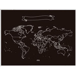 Mappemonde Miss Wood Chalkboard XL
