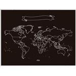 Miss Wood Mapa mundial Chalkboard XL