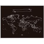 Miss Wood World map Chalkboard XL