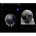 The augmented reality app can teach you what to find on the moons surface.