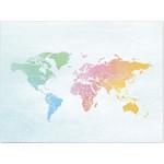 Miss Wood Mapa mundial Woody Map Watercolor Splash L