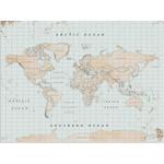 Miss Wood Mapa świata Woody Map Watercolor Vintage L