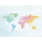 Miss Wood Mapa mundial Woody Map Watercolor Splash XL