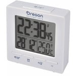 Oregon Scientific Wireless weather station RC Alarm clock with temperature white