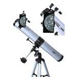Seben Telescopio Riflettore 900-76 + Adattatore Smartphone Cellulare DKA5