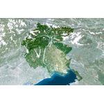 Planet Observer Mapa regional região Friuli Venezial Giulia