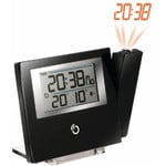 Oregon Scientific Ultra slim projection Clock black with red time display