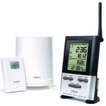 Oregon Scientific Wireless weather station RC rain gauge with outdoor thermometer