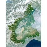 Carte régionale Planet Observer Planète Observer Italie région Piemonte